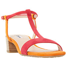 Buy Dune Issie T-Bar Block Heeled Sandals Online at johnlewis.com