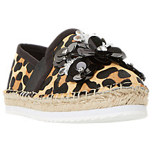 Buy Dune Glorious Embellished Flatform Espadrilles Online at johnlewis.com