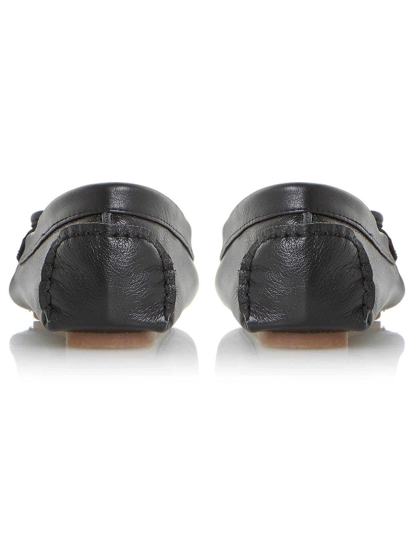 BuyDune Genovia Bow Soft Moccasins, Black, 3 Online at johnlewis.com