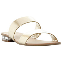 Buy Dune Nesha Double Strap Sandals, Gold Online at johnlewis.com