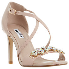 Buy Dune Marcela Jewelled Cross Strap Stiletto Sandals Online at johnlewis.com