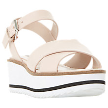 Buy Dune Kassius Cross Strap Flatform Sandals Online at johnlewis.com