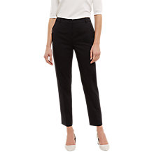 Buy Jaeger Wool Metal Bar Pocket Detail Trousers, Black Online at johnlewis.com