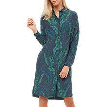 Buy Jaeger Banana Leaf Print Dress, Green Online at johnlewis.com