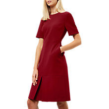 Buy Jaeger Colette Split Detail Dress, Red Online at johnlewis.com
