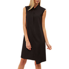 Buy Jaeger Draped Layer Dress, Black Online at johnlewis.com