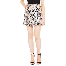 Buy Miss Selfridge Metallic Floral Print Skirt, Multi Online at johnlewis.com