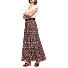Buy Gerard Darel Palvina Cotton Skirt, Black/Multi Online at johnlewis.com