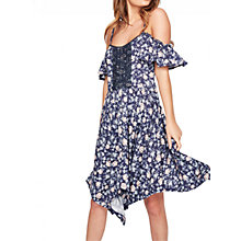 Buy Miss Selfridge Hanky Hem Dress, Blue/Multi Online at johnlewis.com