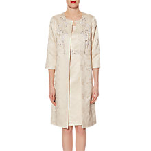 Buy Gina Bacconi Metallic Jacquard Beaded Coat, Ivory Online at johnlewis.com