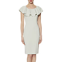 Buy Gina Bacconi Moss Crepe Dress With Frill Collar Online at johnlewis.com