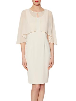 Gina Bacconi Chiffon Cape With Open Back Detail