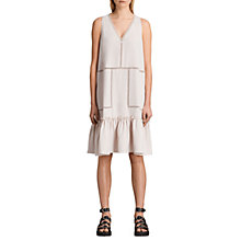 Buy AllSaints Crace Dress, Champagne Pink Online at johnlewis.com
