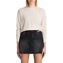 Buy AllSaints Lotus Cropped Cashmere Jumper Online at johnlewis.com