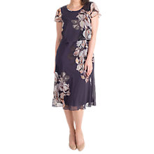 Buy Chesca Floral Print Layered Chiffon Dress, Hyacinth Online at johnlewis.com