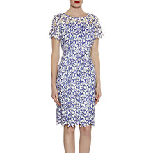 Buy Gina Bacconi Stitch Leaf Embroidery Dress, Hyacinth Online at johnlewis.com