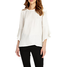Buy Phase Eight Heather Flute Sleeve Blouse, Ivory Online at johnlewis.com