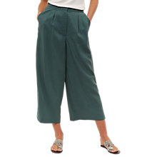Buy Jaeger Split Hem Wide Leg Trousers, Green Online at johnlewis.com