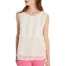 Buy White Stuff Esme Cutwork Vest, Cream Online at johnlewis.com