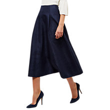 Buy Jaeger Floral Jacquard Skirt, Navy Online at johnlewis.com