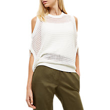 Buy Jaeger Lace Stitch Cut-Out Knitted Top Online at johnlewis.com