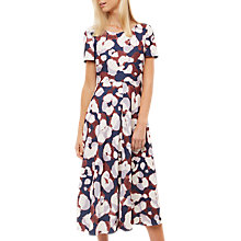 Buy Jaeger Leopard Ink Print Dress, Multi Blue Online at johnlewis.com