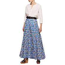 Buy Gerard Darel Palvina Skirt, Blue Online at johnlewis.com