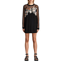 Buy AllSaints Keela Sweat Dress, Black Online at johnlewis.com
