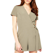 Buy Miss Selfridge D-Ring Playsuit, Khaki Online at johnlewis.com