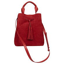 Buy Gerard Darel Le Saxo Leather Across Body Bag, Red Online at johnlewis.com