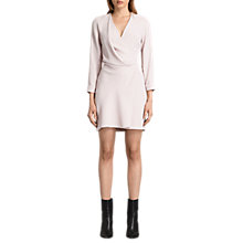Buy AllSaints Rila Dress, Champagne Pink Online at johnlewis.com