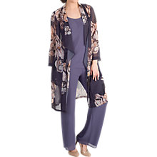 Buy Chesca Floral Print Chiffon Coat, Hyacinth Online at johnlewis.com