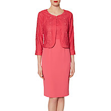 Buy Gina Bacconi Embroidered Bodice Crepe Dress And Jacket Online at johnlewis.com