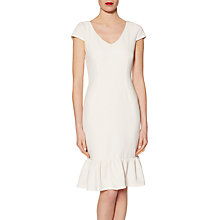 Buy Gina Bacconi Stretch Rib Dress With Frill Hem Online at johnlewis.com