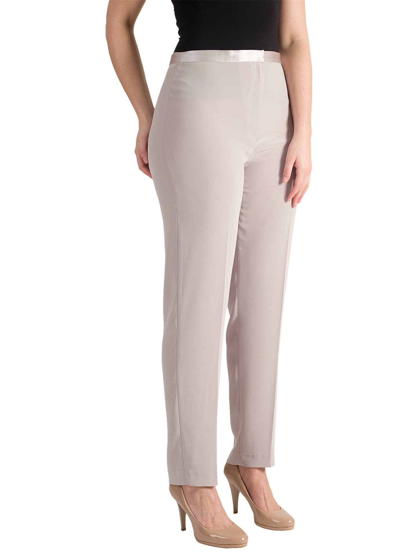 BuyChesca Pull On Stretch Trousers, Mink, 12 Online at johnlewis.com