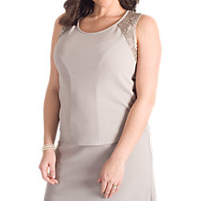 Buy Chesca Lace Trim Jersey Crepe Cami, Mink Online at johnlewis.com