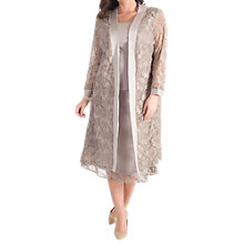 Buy Chesca Embroidered Lace Coat, Mink Online at johnlewis.com