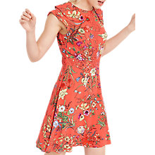 Buy Oasis Botanical Print Sleeveless Lace Dress, Red/Multi Online at johnlewis.com