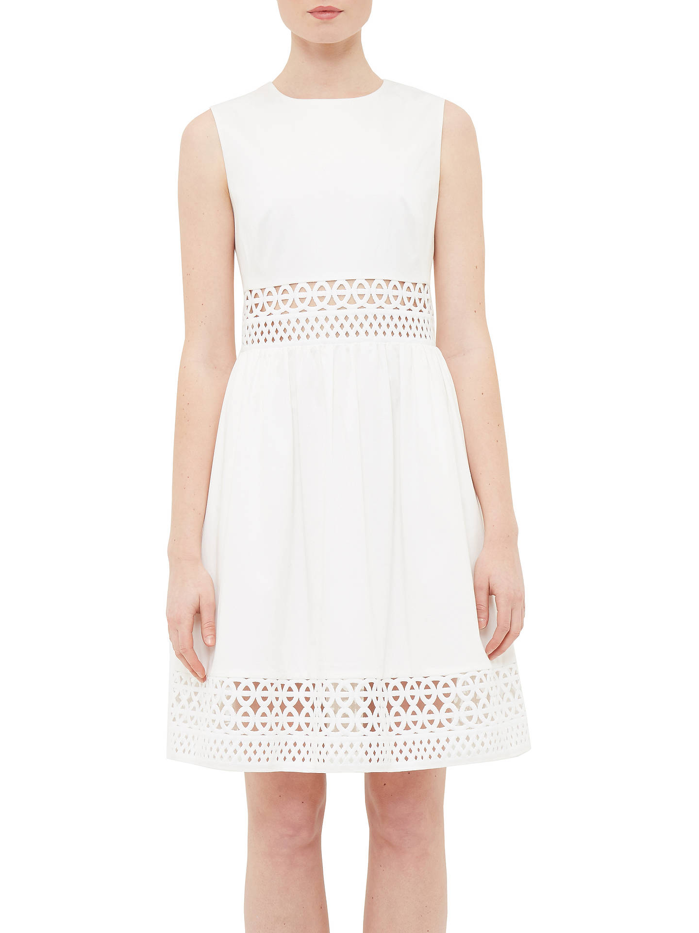 67a17d88f Ted Baker Dayzey A-Line Lace Panel Dress at John Lewis   Partners