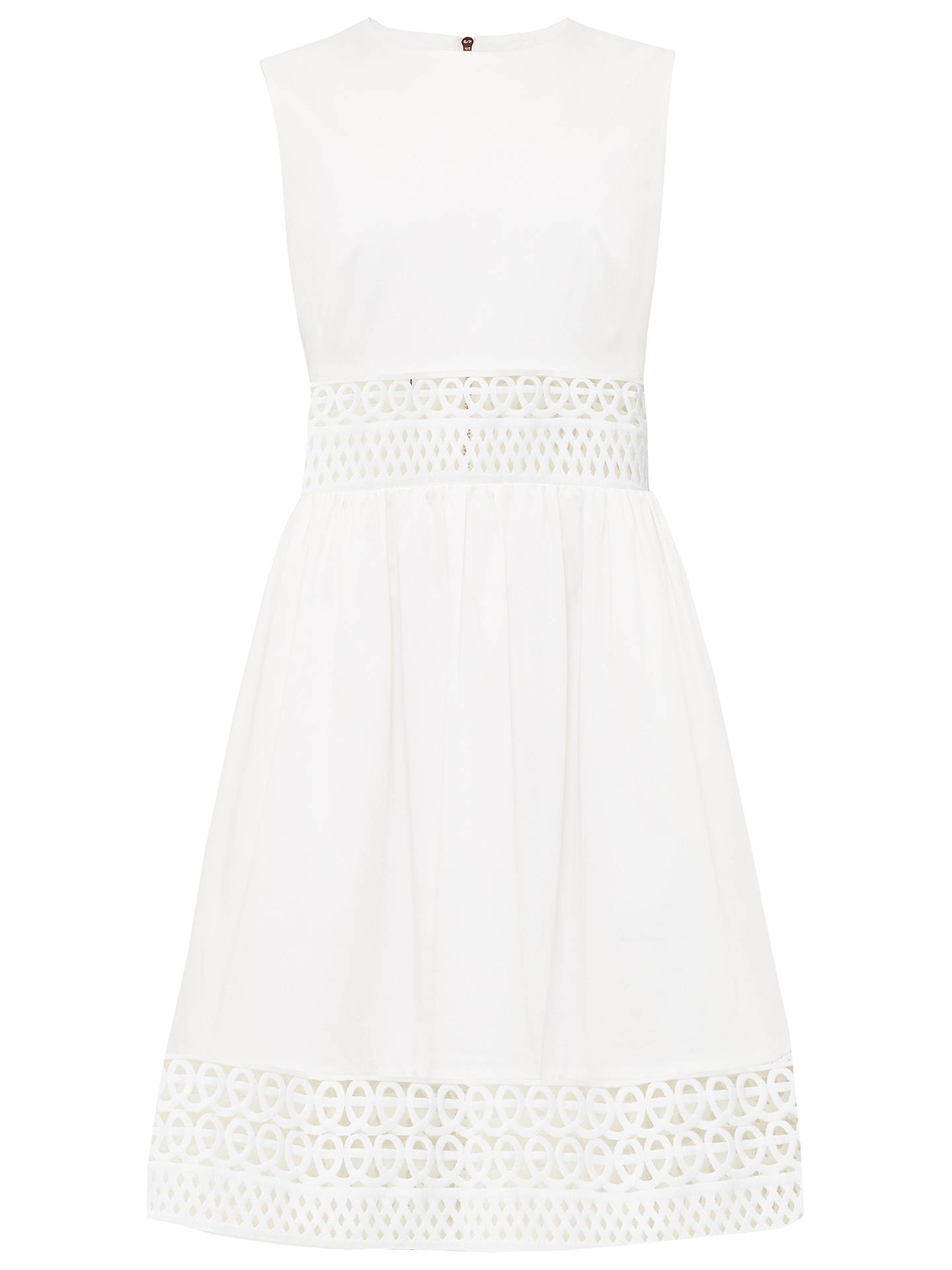 92fb54b0e068 Ted Baker Dayzey A-Line Lace Panel Dress at John Lewis   Partners