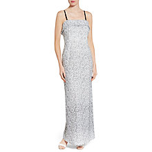 Buy Gina Bacconi Enchanted Embroidered Floral Maxi Dress, White/Black Online at johnlewis.com