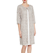 Buy Gina Bacconi Primrose Guipure Lace Coat, Pebble Online at johnlewis.com