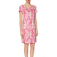 Buy Gina Bacconi Matelasse Floral Jacquard Dress, Pink Brocade Online at johnlewis.com