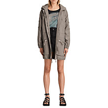 Buy AllSaints Skyler Parka Coat, Khaki Online at johnlewis.com