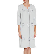 Buy Gina Bacconi Embroidered Moss Crepe Coat Online at johnlewis.com