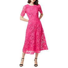 Buy Warehouse Premium Lace Midi Dress Online at johnlewis.com