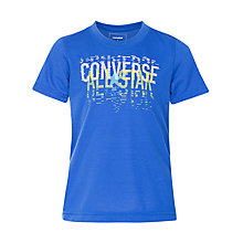 Buy Converse Boys' Linear All Star T-Shirt, Blue Online at johnlewis.com