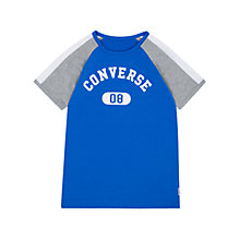Buy Converse Boys' Raglan T-Shirt, Blue Online at johnlewis.com
