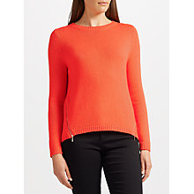 Buy Collection WEEKEND by John Lewis Zip Front Crew Jumper Online at johnlewis.com