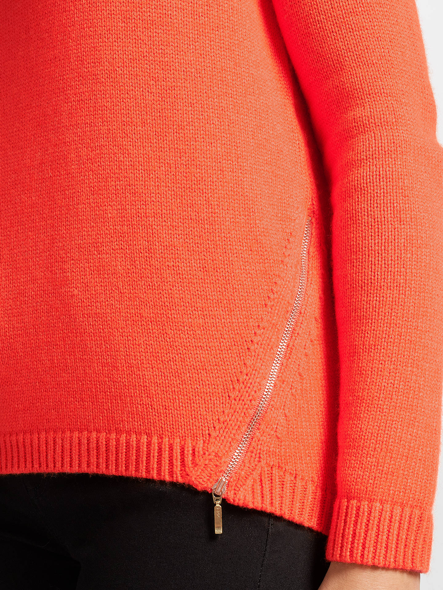 BuyCollection WEEKEND by John Lewis Zip Front Crew Jumper, Orange, 8 Online at johnlewis.com